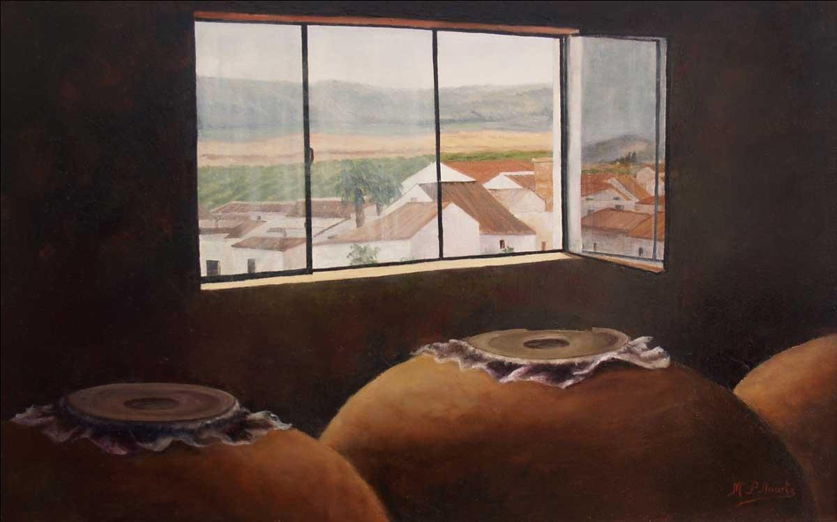 María Pilar Anarte, Paisagens de uma vida Artes & contextos Tinajas en la bodega. ok