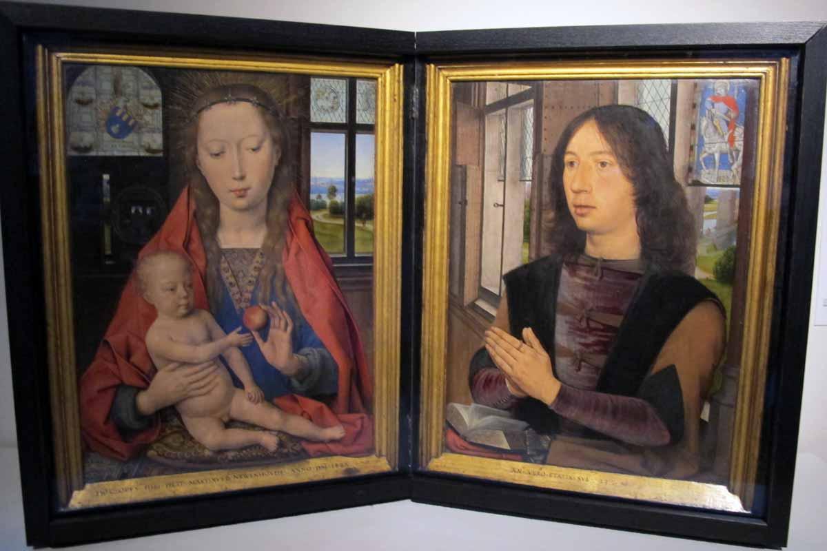 Bruges, uma cápsula do tempo entre Memling e a arte contemporânea Artes & contextos Hans memling dittico di maarten van nieuwenhove 1487 01