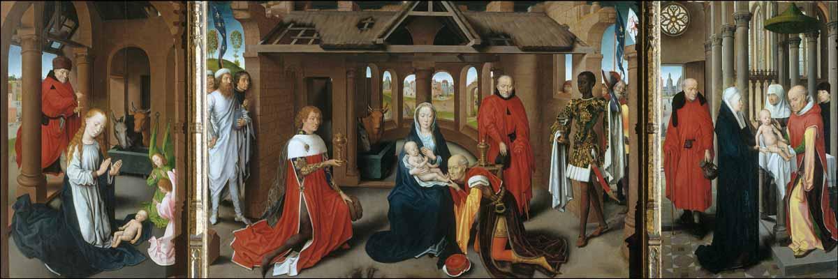 Bruges, uma cápsula do tempo entre Memling e a arte contemporânea Artes & contextos Memling triptico de la Adoracion de los Reyes MAgos M Prado 1470 72