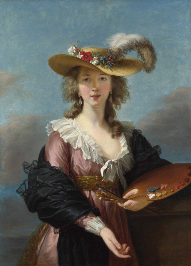 Madame de Staël retratada como Corinne Artes & contextos Self portrait in a Straw Hat by Elisabeth Louise Vigee Lebrun
