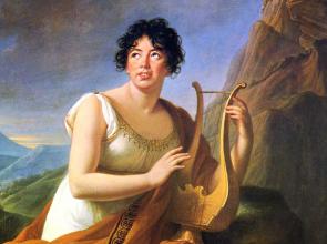 Madame de Staël retratada como Corinne